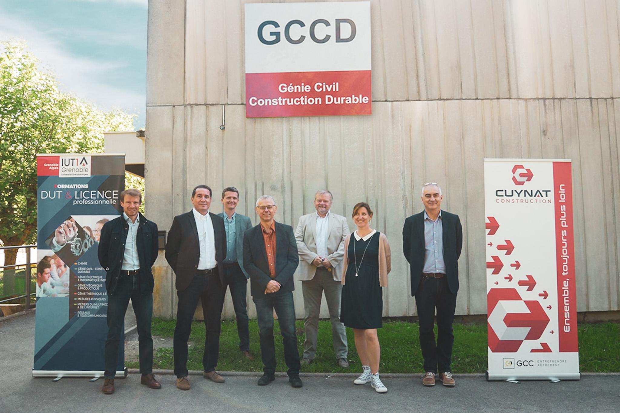 Les équipes de Cuynat Construction et du département GCCD
